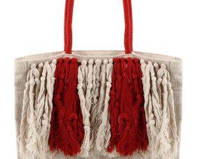 Τσάντα Θαλάσσης Marilou Tote BG039541-ECRU/RED