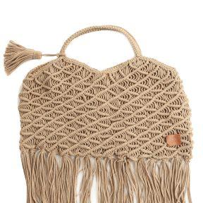 Τσάντα Ώμου Marilou Πλεκτή Με Κρόσσια BDS-1471-D