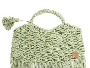 Τσάντα Ώμου Marilou Πλεκτή Με Κρόσσια BDS-1471-A