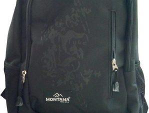 Τσάντα πλάτης μαύρη με 1 θήκη 40x27x13 εκ. Montana 30704