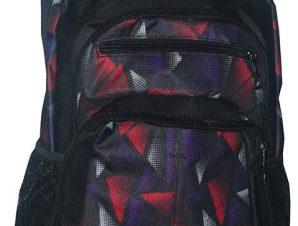Τσάντα πλάτης κόκκινα σχέδια με 1 θήκη 40x28x13 εκ. Montana 30708