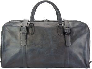 Δερμάτινο Σακ Βουαγιαζ Serafino Firenze Leather 68053 Μαύρο