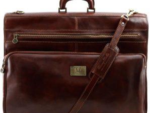 Βαλίτσα / Θήκη Ενδυμάτων Δερμάτινη Papeete Καφέ Tuscany Leather