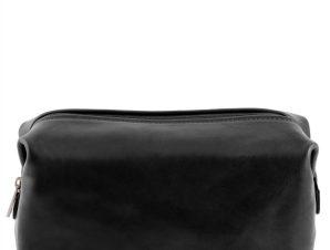 Θήκη – Τσαντάκι Καλλυντικών Δερμάτινο Smarty S Μαύρο Tuscany Leather