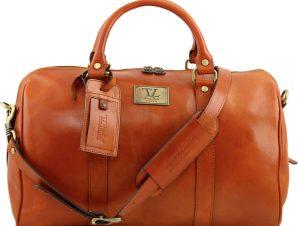 Σάκος Ταξιδίου Δερμάτινος TL Voyager TL141250 Μελί Tuscany Leather
