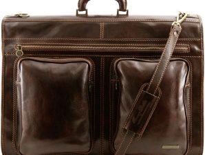 Βαλίτσα / Θήκη Ενδυμάτων Δερμάτινη Tahiti Καφέ σκούρο Tuscany Leather