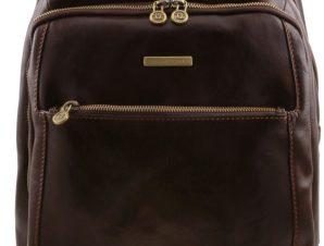 Τσάντα Πλάτης Δερμάτινη Phuket Καφέ σκούρο Tuscany Leather