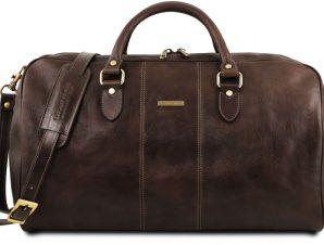 Σάκος ταξιδίου δερμάτινος – Lisbona Καφέ σκούρο Tuscany Leather