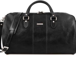 Σάκος ταξιδίου δερμάτινος – Lisbona Μαύρο Tuscany Leather